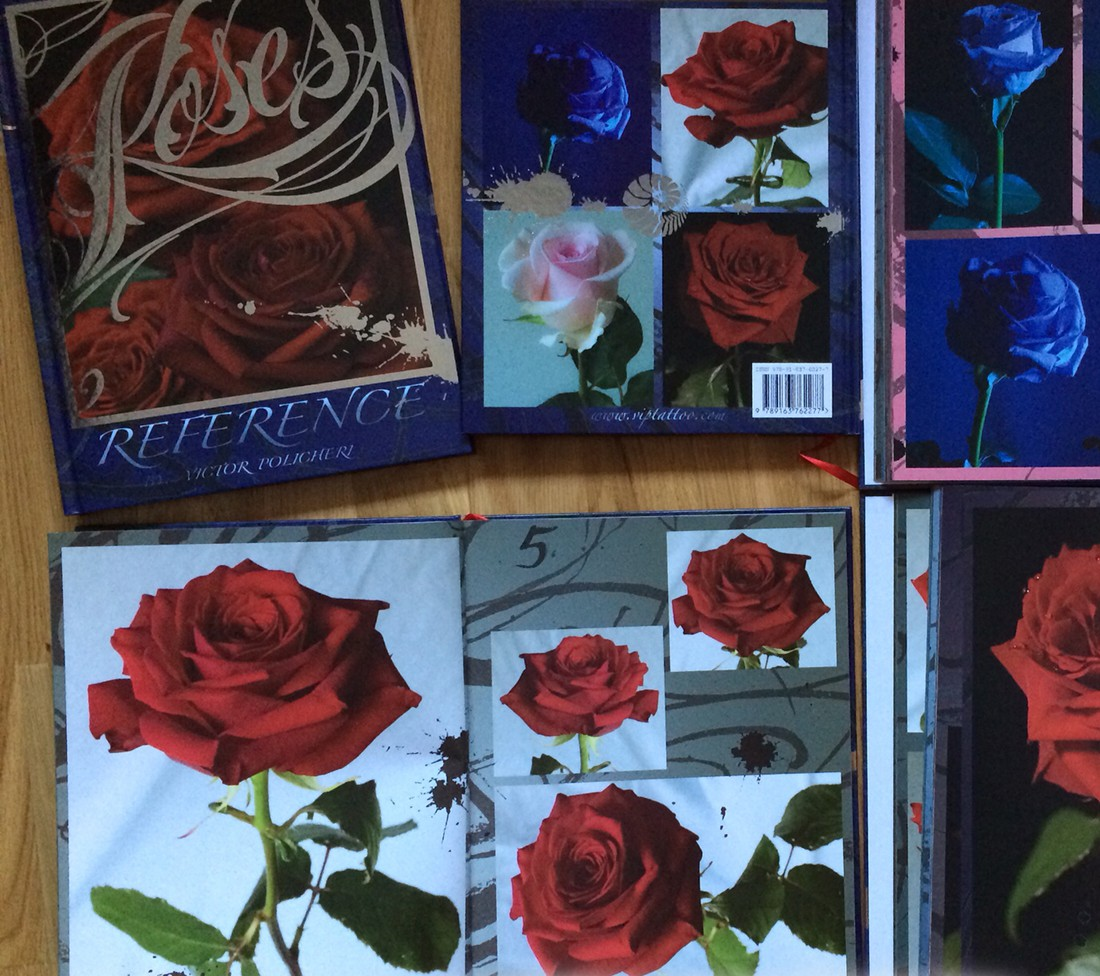 Rose reference book in my online store vip tattoo for Tattoo reference books