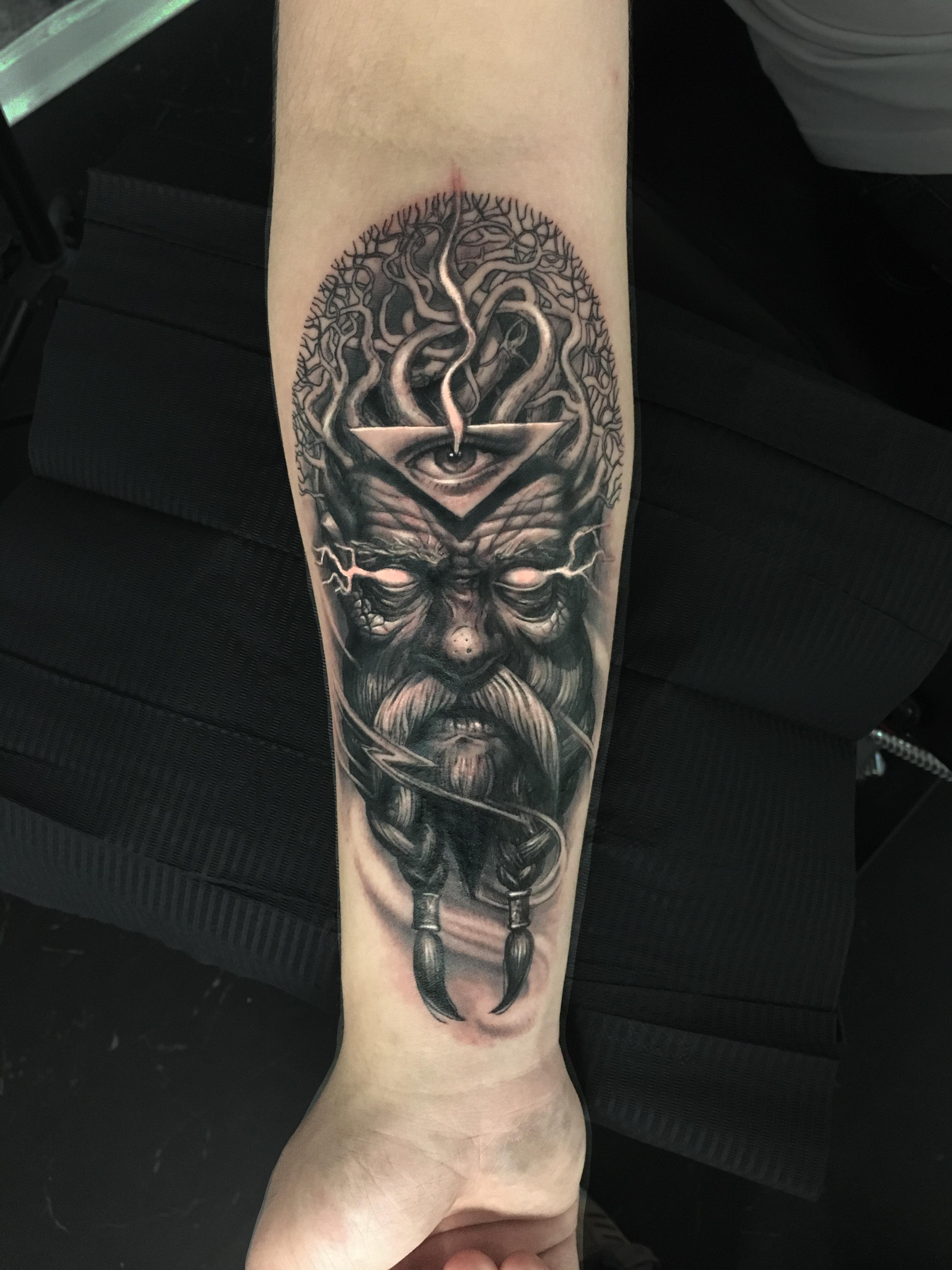black gray vip tattoo